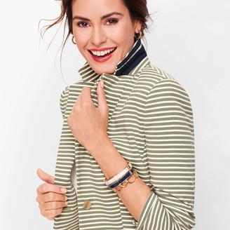 Talbots Aberdeen Knit Blazer - Stripe Pique