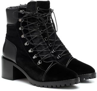 Alaã ̄A Velvet ankle boots