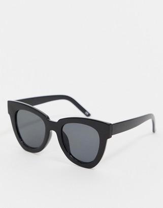 ASOS DESIGN chunky flare cat eye sunglasses