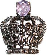 One Kings Lane Vintage Sterling & Amethyst Floral Crown Brooch