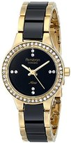 Swarovski Armitron Women's 75/5210BKGPBK Crystal-Accented Watch