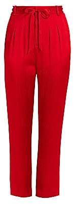 Roland Mouret Women's Biltmore Crinkle Stretch-Silk Trousers