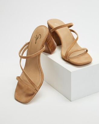 Spurr Women's Brown Mid-low heels - Benny Heels - Size 5 at The Iconic