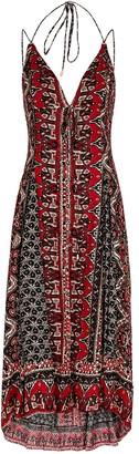 Free People On The Bright Side Printed Midi Dress