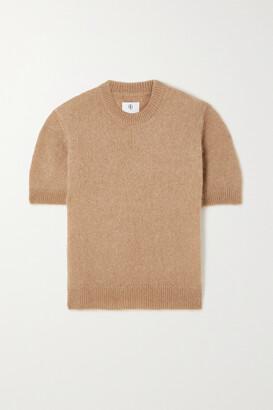Anine Bing - Corey Brushed Mohair-blend Sweater - Neutrals