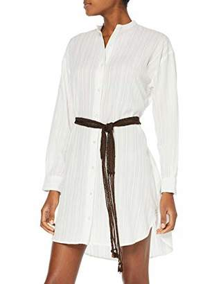 Replay Women's W9531a.000.83356 Dress, (Natural White 11), Large
