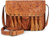 Patricia Nash Burnished Tooled Arno Flap Crossbody