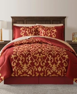 Fairfield Square Collection Palace Red Twin 6-Pc. Comforter Set Bedding