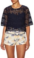 Antik Batik Lace Cotton Wide Cuff Blouse