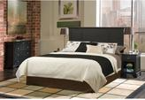 Home Styles Bedford Black Queen Headboard, 2 Nightstands and Chest