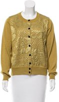 Marc Jacobs Wool Lace-Paneled Cardigan w/ Tags