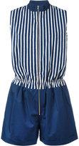 MAISON KITSUNÉ sleeveless zip playsuit - women - Cotton - 40