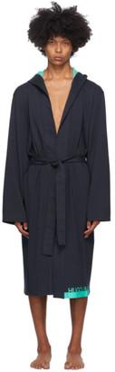HUGO BOSS Navy Identity Hooded Robe
