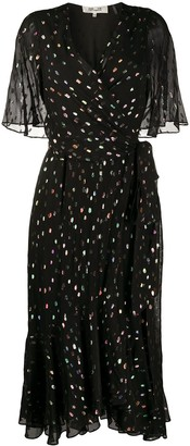 Diane von Furstenberg Berdina metallized wrap dress