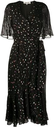 Dvf Diane Von Furstenberg Berdina metallized wrap dress