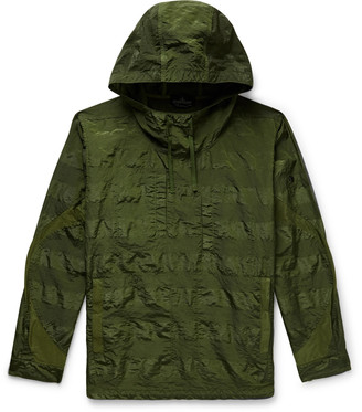 Stone Island Shadow Project Striped Textured-Shell Hooded Anorak