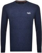 Superdry Orange Label Knit Jumper Navy