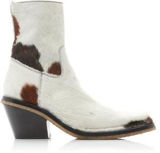 Acne Studios Calf Hair Ankle Boots