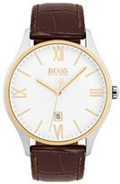 HUGO BOSS 1513486 Governor Classic, Italian Embossed Leather Watch One Size Assorted-Pre-Pack