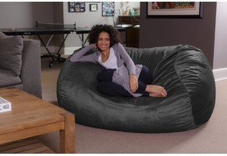 Large Bean Bag Chair & Lounger Latitude Run Upholstery Color: Gray
