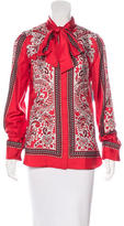 Alexander McQueen Silk Paisley Print Blouse w/ Tags