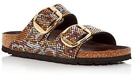 Birkenstock Women's Arizona Big Buckle Python Embossed Slide Sandals