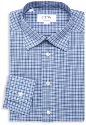 Eton Contemporary-Fit Plaid Cotton Shirt
