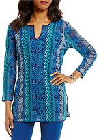 Sigrid Olsen Signature Embroidered Mesh Tunic