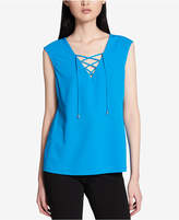 Calvin Klein Sleeveless Lace-Up Top