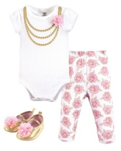 Little Treasure Baby Vision Baby Bodysuit, Pant and Shoes, 3-Piece Set