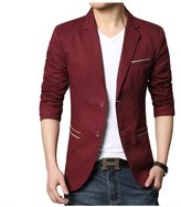 Meiruian British Style Mens Suit Coat Blazer Casual Jacket Outerwear Two Buttons
