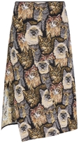 Stella McCartney Cat Jacquard Anna Skirt