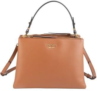 Prada Small Deux Leather Top Handle Bag