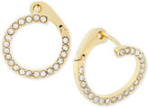 Vince Camuto Gold-Tone Crossover Pavé Hoop Earrings