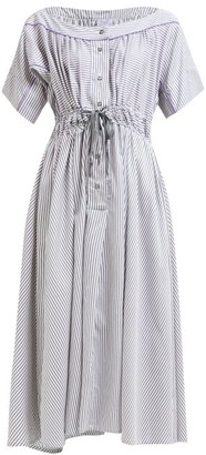 Thierry Colson Tania Striped Midi Dress - Grey Print