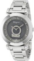 Salvatore Ferragamo Women's FQ4070013 Minuetto Diamond-Accented Stainless Steel Watch