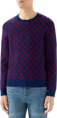 Gucci Men's Interlocking GG Wool-Cashmere Sweater