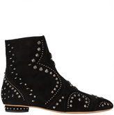 Valentino Studded Flat Suede Ankle Boots - women - Leather/metal - 36