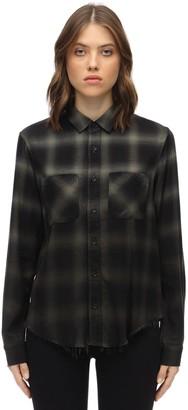 Amiri Cotton & Viscose Ombre Flannel Shirt