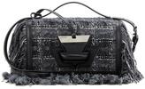 Loewe Barcelona Leather-trimmed Tweed Shoulder Bag