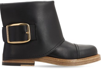 Alexander McQueen 20mm Leather Ankle Boots