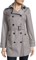 Michael Kors Petite Cotton-Blend Double-Breasted Trench Coat