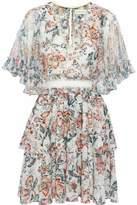 Sachin + Babi Ruffled Floral-Print Chiffon Mini Dress