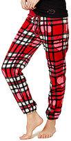 Betsey Johnson Plaid Plush Jogger Sleep Pants