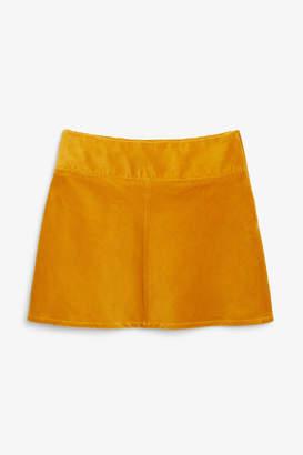 Monki A-line cord mini skirt