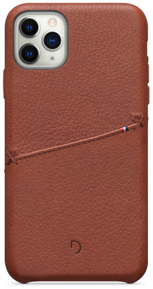 Decoded Leather Card Case for iPhone 11 Pro Max - Brown