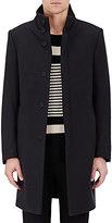 Barneys New York Men's Wool-Blend Topcoat-NAVY