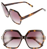 KENDALL + KYLIE Women's Ludlow 58Mm Sunglasses - Dark Demi/ Matte Black