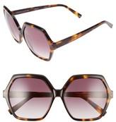 KENDALL + KYLIE Women's Ludlow 58Mm Sunglasses - Dark Demi/ Matte Black
