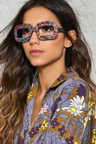 Nasty Gal nastygal Candy Store Rock Diamante Glasses